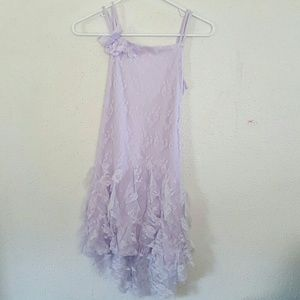 NEW LAVENDER GIRL'S LACE RUFFLED DRESS